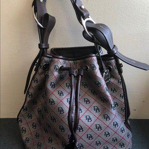 Dooney Bourke Bucket Handbag Drawstring Signature
